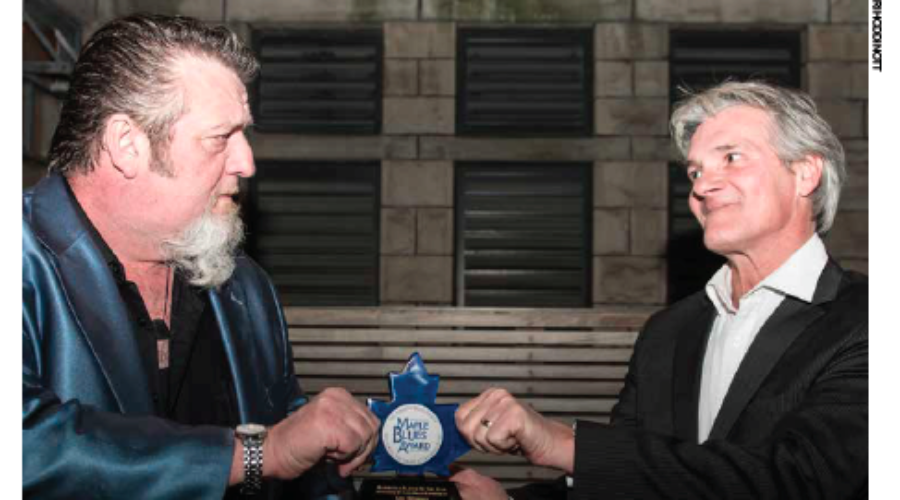 Congrats to: Guy Belanger & Harpdog Brown – first ever Maple Blues Award Tie.